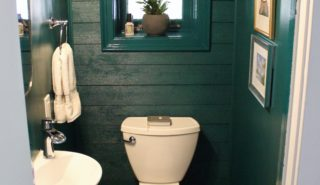 Powder Room Update Reveal with Tartan & Toile